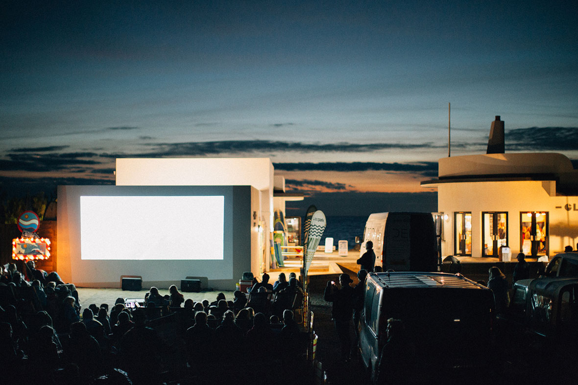 open air movie-nights at the surf yard jersey