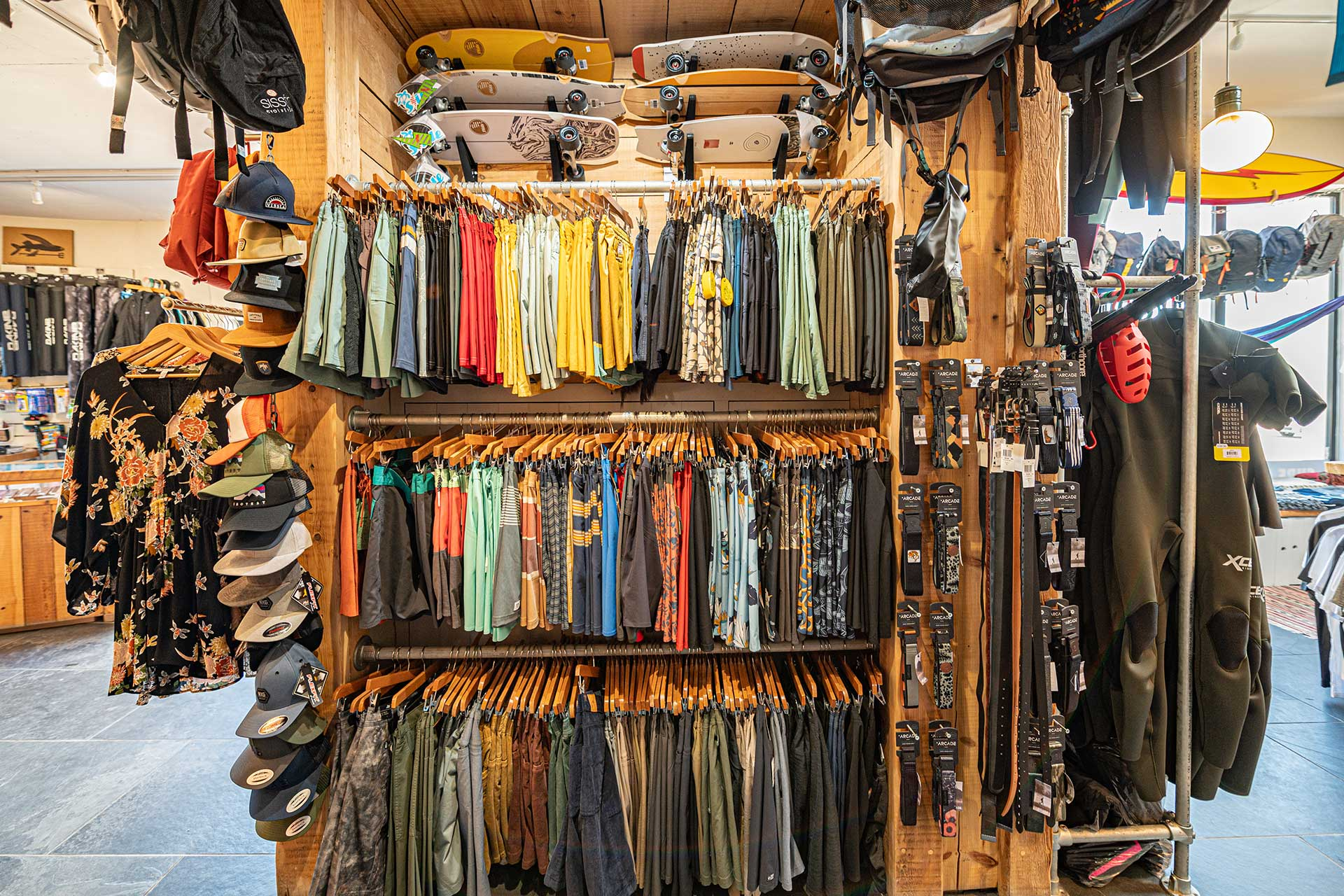 surf shop clothes and boards jersey