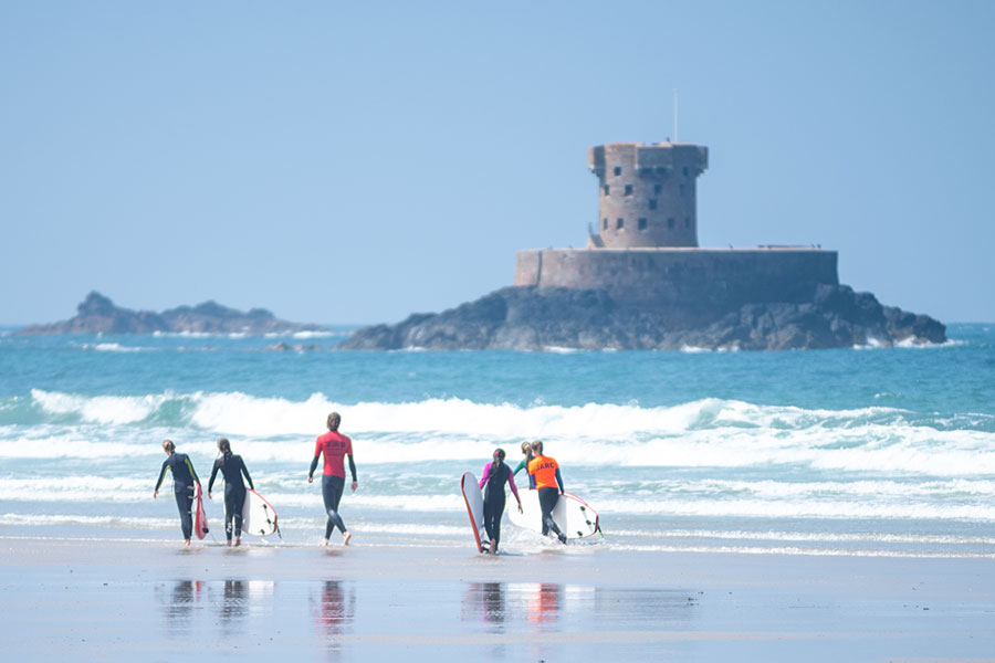 children surf lessons in Jersey